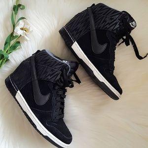 Nike Dunk Sky High Wedge Sneakers US 6